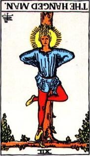 タロットカード「吊るし人」逆位置