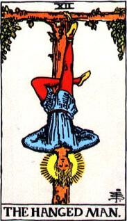 タロットカード「吊るし人」正位置